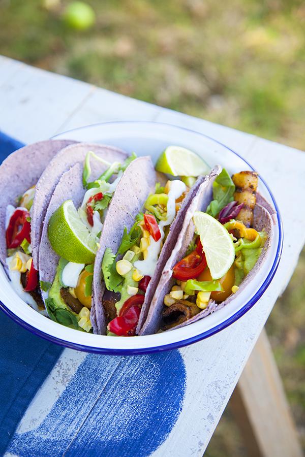 Tacos d'aubergine vegan