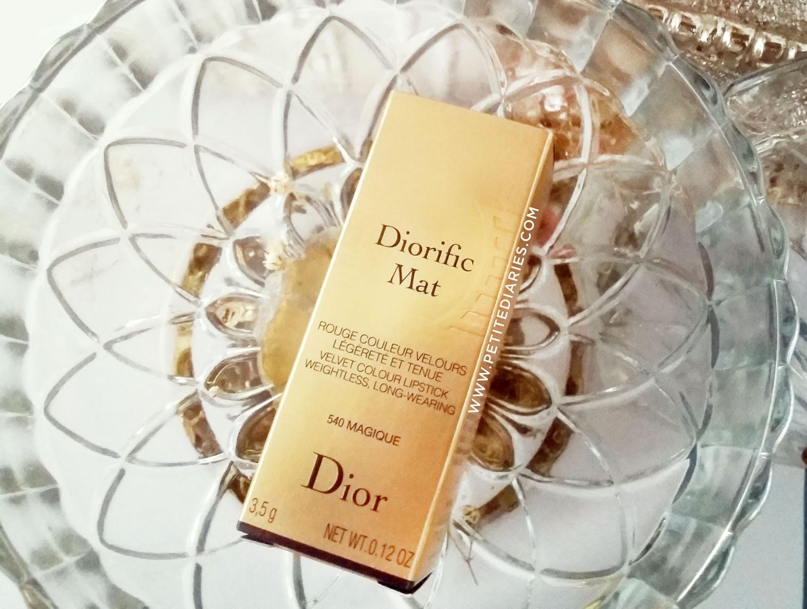 dior diorific mat magique lipstick review