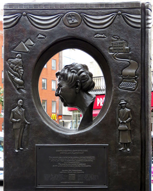 Agatha Christie Memorial  by Ben Twiston-Davies, Cranbourn Street, Covent Garden, London