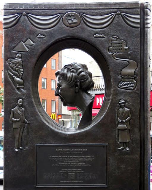 Agatha Christie Memorial  by Ben Twiston-Davies, Cranbourn Street, Covent Garden, London