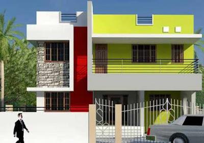 kombinasi warna cat rumah yang bagus dan cantik