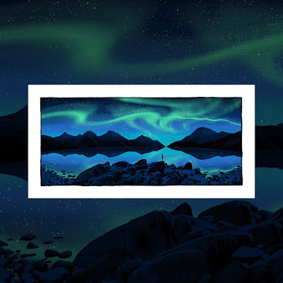 """Reflections In Our Eyes"" Glow In The Dark Art Print by Dan McCarthy"