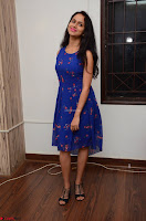 Pallavi Dora Actress in Sleeveless Blue Short dress at Prema Entha Madhuram Priyuraalu Antha Katinam teaser launch 070.jpg