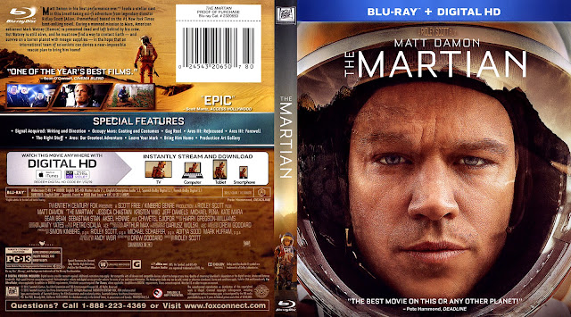 The Martian Bluray Cover