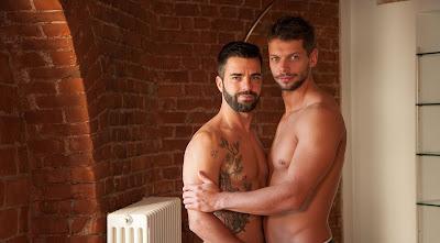 Shirtless Male Models Rhys Jagger & Hector DeSilva