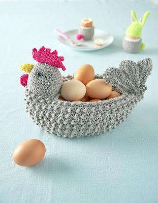 Crochet chicken Easter basket