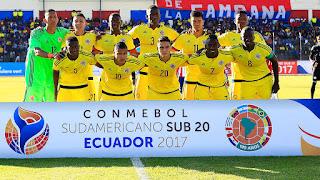 Ecuador U20 enfrenta a Colombia U20 en Hexagonal Final Sudamericano Sub 20 Ecuador 2017