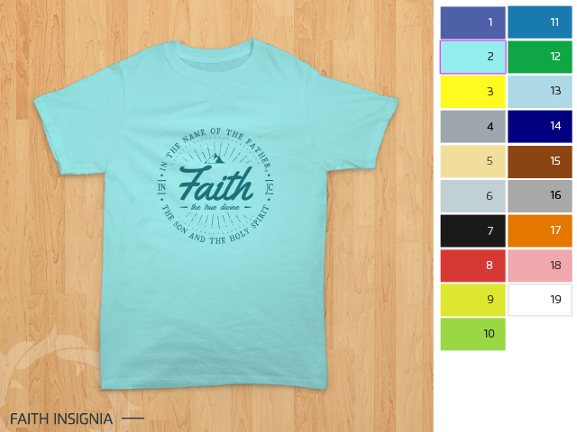 preview desain kaos rohani Kristen - Faith Insignia 1