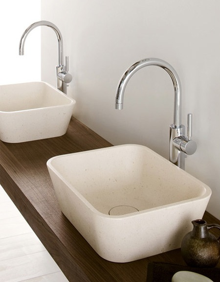 Natural modern interiors bathroom design ideas basins sinks - Designer bathroom sinks basins ...
