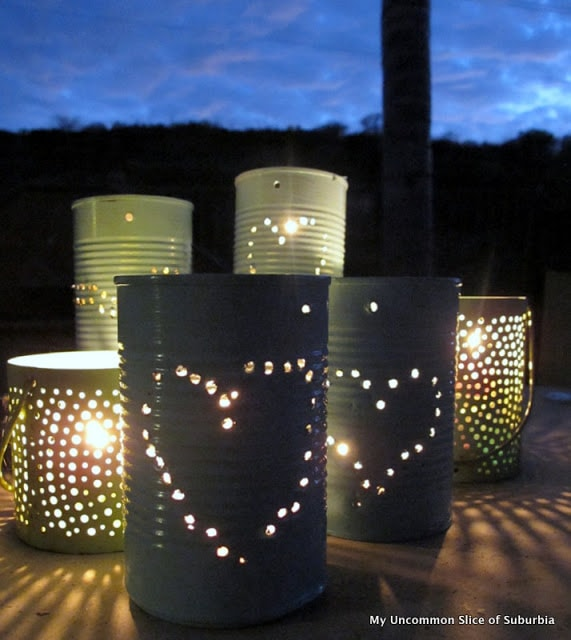 punched tin can luminary craft