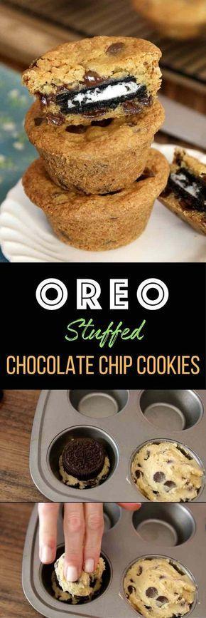 Easy Oreo Stuffed Chocolate Chip Cookies