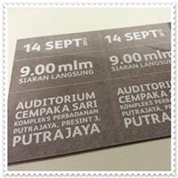 tiket akademi fantasia 2013 , tiket masuk Auditorium Cempaka Sari