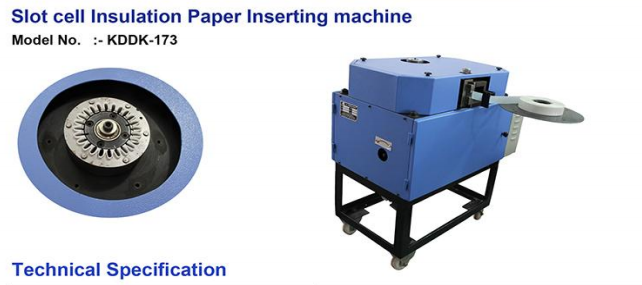 Slot Cell Insulation Paper Inserting Machine image