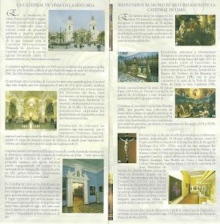 Panfleto da Catedral de Lima: Museu