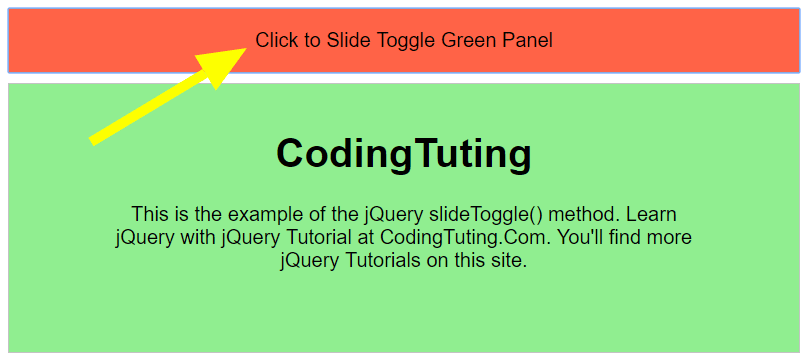 jQuery slideToggle effect