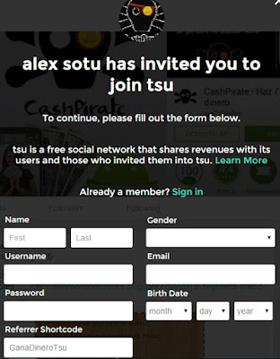 Tsu como registrate