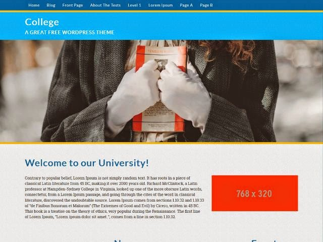 College - Responsive WordPress Theme