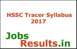 HSSC Tracer Syllabus 2017