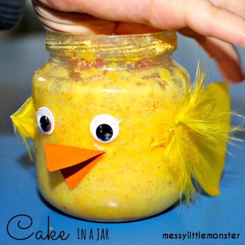 Cake in a Jar : Easter Chick Activity for Kids
