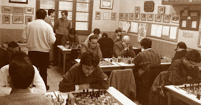 Encuentro  de ajedrez C.C. Sant Andreu - La Lira, 1988