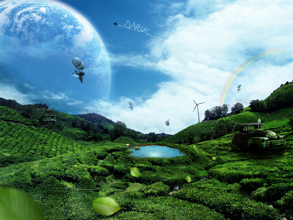 3d All Animal Wallpaper Wallpapers Collection Green Landscape 2