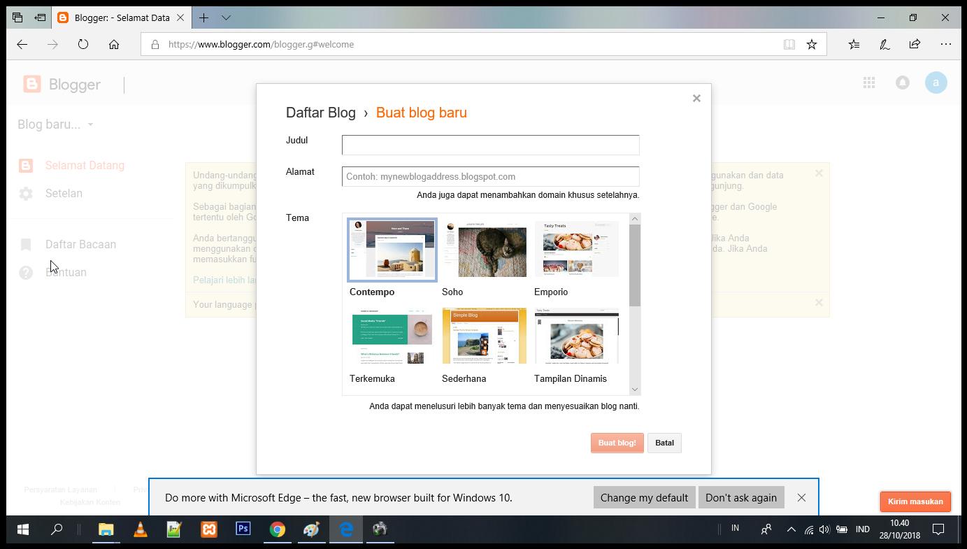 judul blog dan domain blog