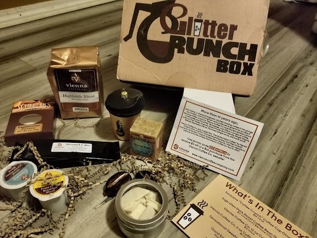 Glitter Crunch Box Coffee Theme