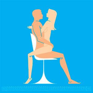Cháy với thế yêu trên ghế