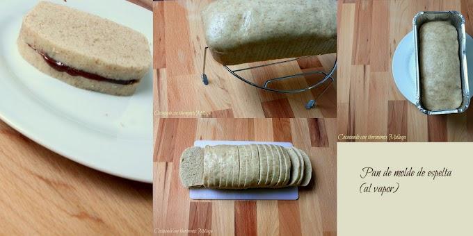 Pan de molde de espelta (al vapor)