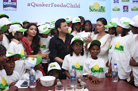 Shriya Saran and Meenakshi Dixit Pos at Quaker Feed A Child Campaign  0040.jpg