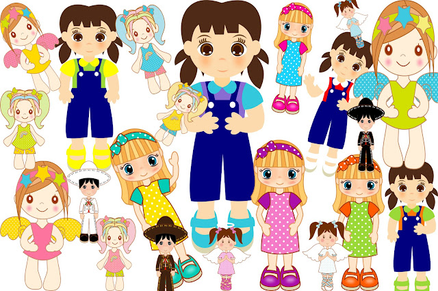 Boys and Girls Clip Art.