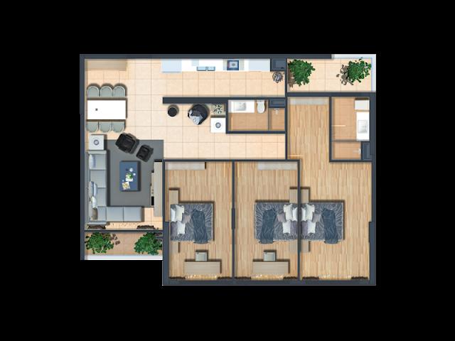 Thiết kế căn hộ loại A chung cư Bohemia Residence