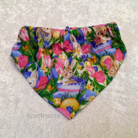Easter and Spring Dog Bandanas and Pet Scrunchie Ruffles