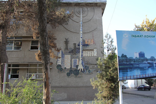 Tadjikistan, Khodjent, façade, avenue Kamoli Khujandi, © L. Gigout, 2012