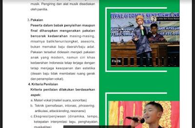 Ketentuan Lomba Nyanyi Solo FLS2N SD Tahun 2019, http://www.librarypendidikan.com/