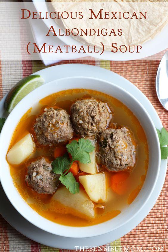 Delicious Mexican Albondigas (Meatball) Soup