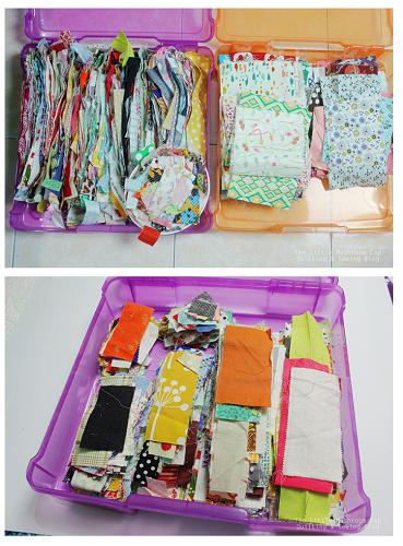 fabric scraps organizing