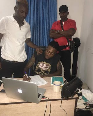 Dammy Krane Signs New Music Artiste, Idowest (Photos)