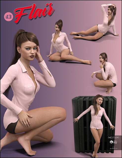 i13 Flair Pose Collection for the Genesis 3 Female