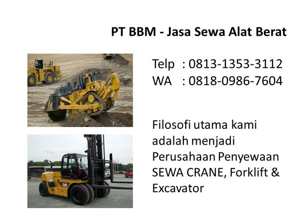 rental excavator pc 50 di bandung dan jakarta