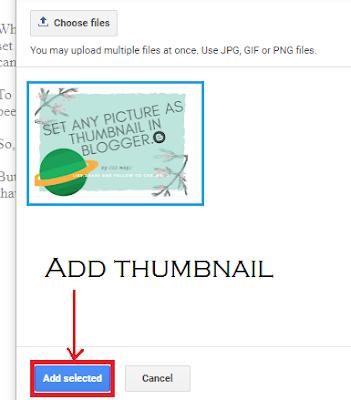 Adding photos in Google Blogger blog post.