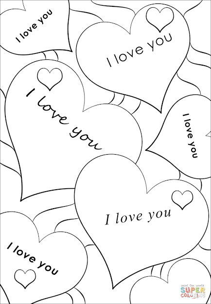 Click The Love You Hearts Coloring Pages
