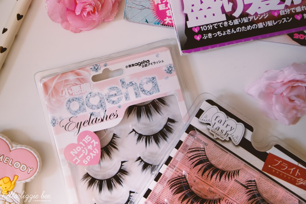 cute false lashes flatlay