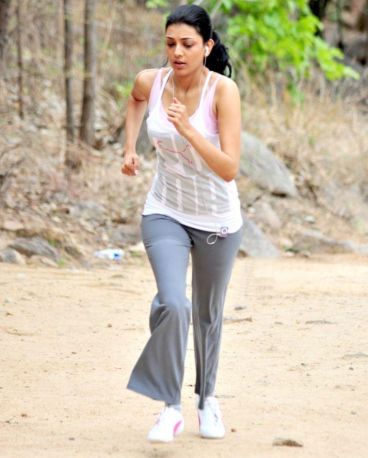 Kajal Agarwal Photos In Jogging Dress White