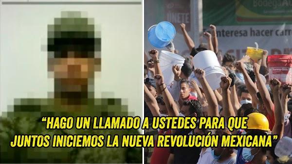 Militar Mexicano propone una nueva Revolución ahora que el pueblo está unido (VIDEO)