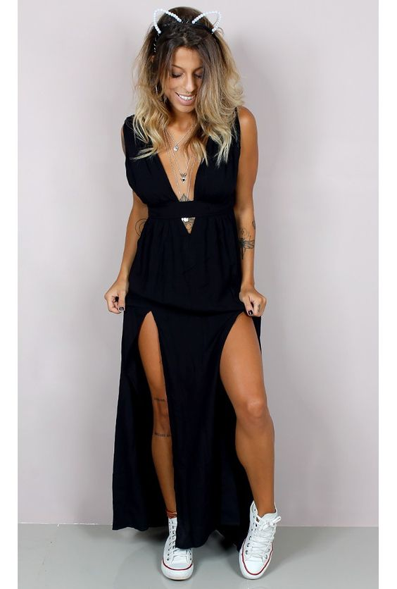 Significado da cor do vestido preto e azul