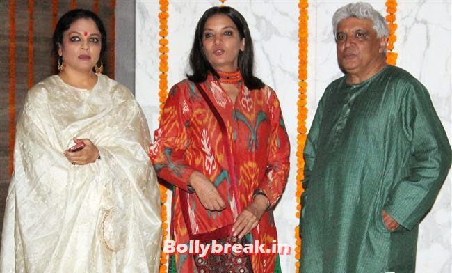 Tanvi Azmi, Shabana Azmi and Javed Akhtar, Bollywood Celebs at Kangana Ranaut Birthday Bash Pics