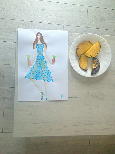 Making of a Fashion Illustration: A Girl In a Transparent Blue Dress