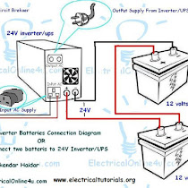 How To Connect Two Batteries To Inverter24 Volts UPS Electrical - Ups Inverter Wiring Diagram