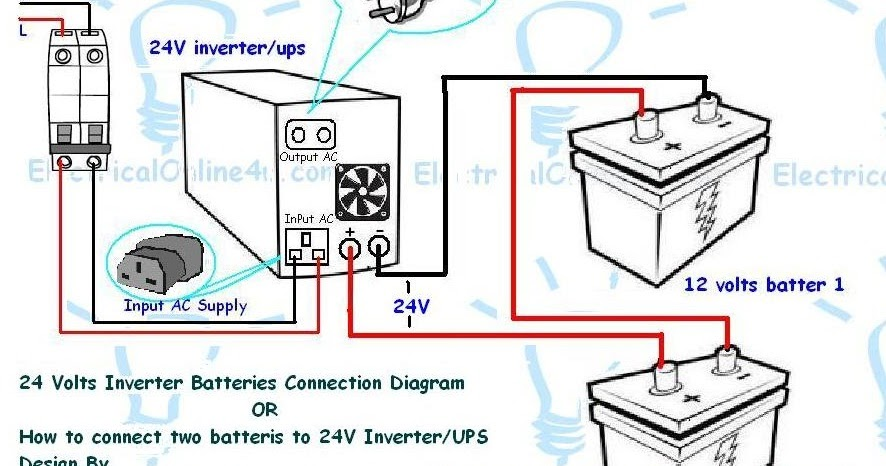 How to connect two batteries to inverter24 volts ups electrical how to connect two batteries to inverter24 volts ups electrical tutorials urdu hindi swarovskicordoba Choice Image